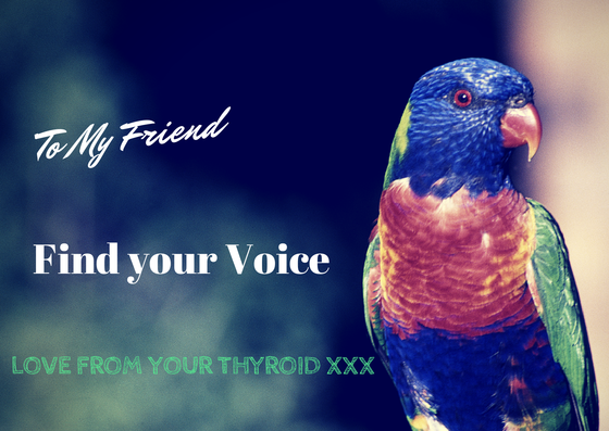 Chakra and chanting work to heal thyroid