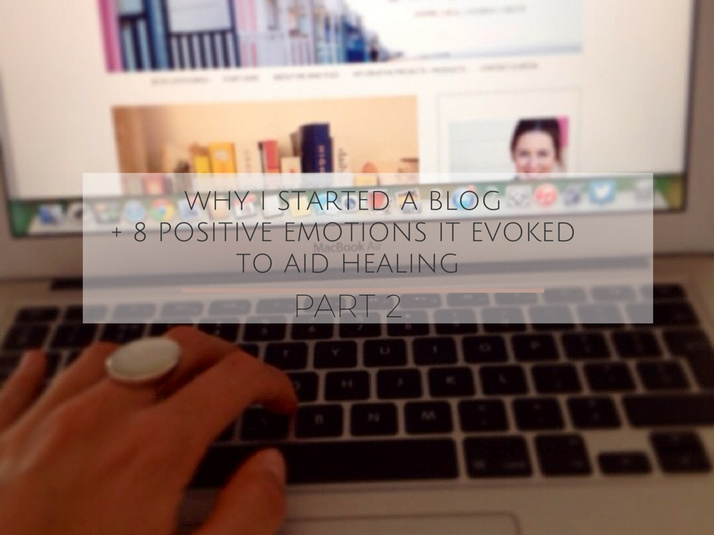 How starting an autoimmune blog can aid health. Part 2