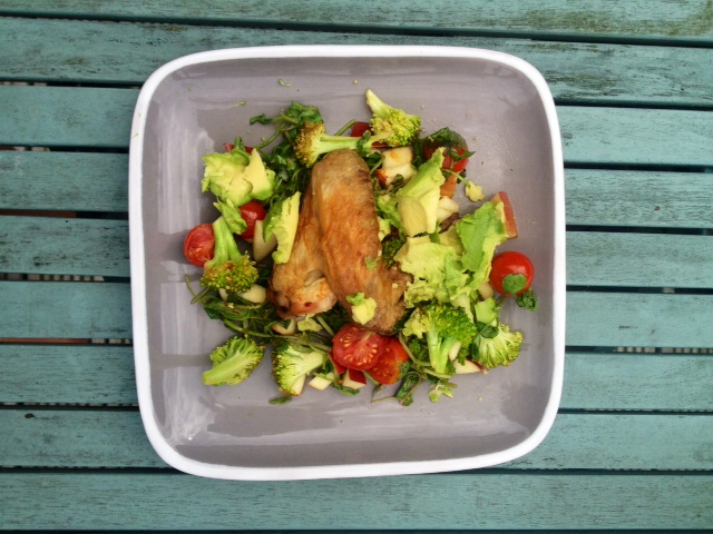 a warm summer paleo salad